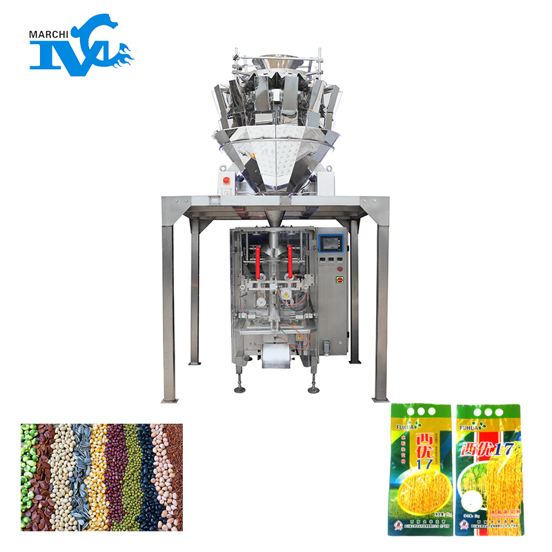 Particle vertical film wrapping machine