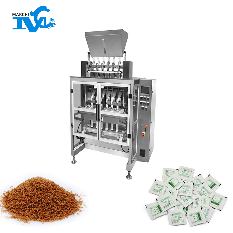 Multi - row particle packing machine