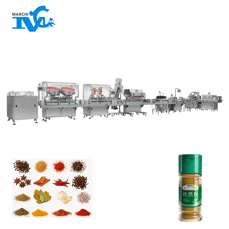 Bottled condiment filling machine
