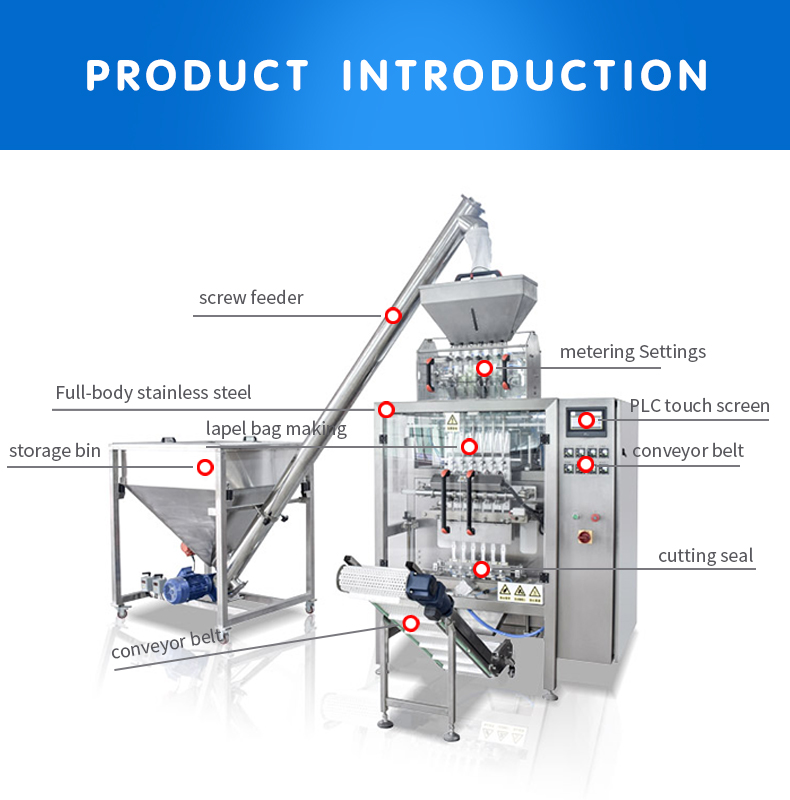Multi - line powder packaging machinery